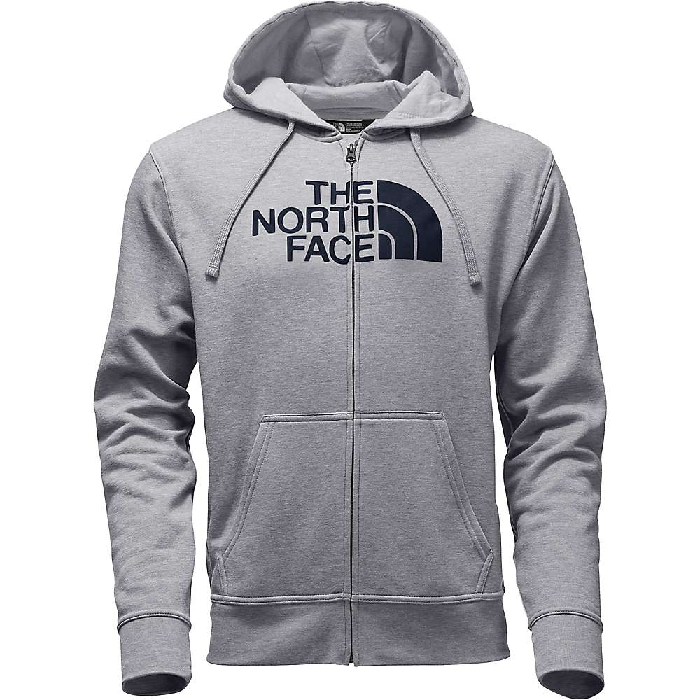 The North Face Men's Half Dome Full Zip Hoodie - Small - TNF Light Grey Heather / Urban Navy