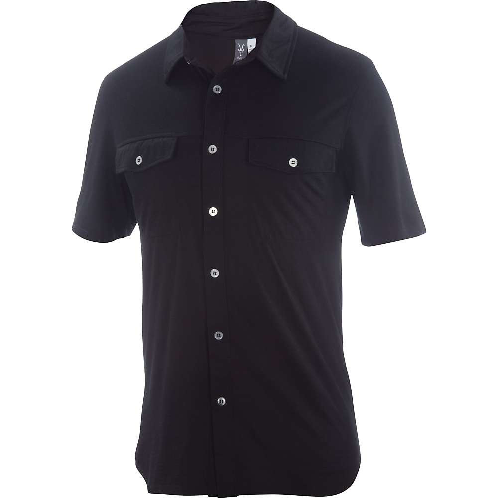 Ibex Men's All In Shirt - Small - Black