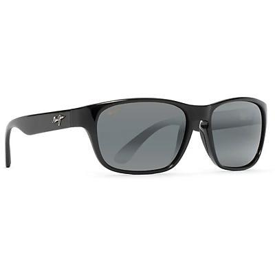 Maui Jim Mixed Plate Polarized Sunglasses - Gloss Black / Neutral Grey