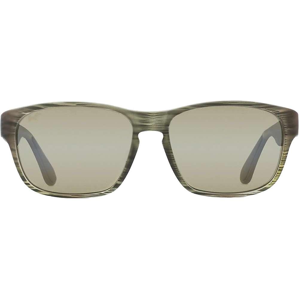 Maui Jim Mixed Plate Polarized Sunglasses - One Size - Matte Green Stripe Rubber / Maui HT
