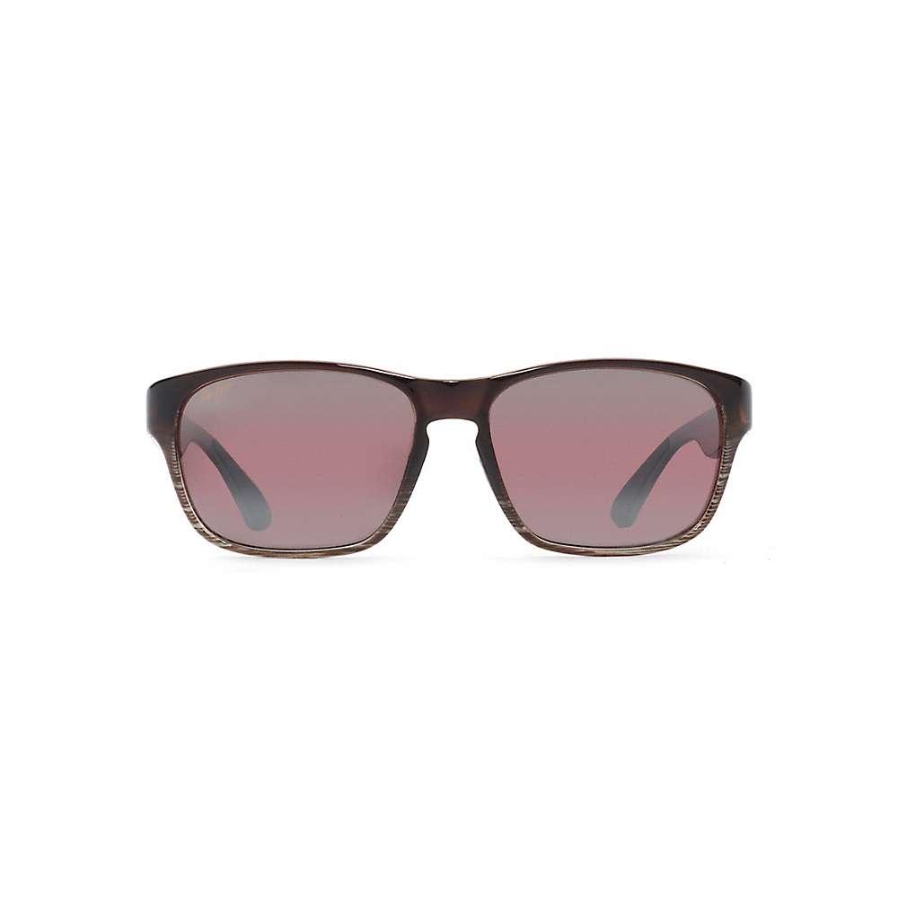 Maui Jim Mixed Plate Polarized Sunglasses - One Size - Chocolate Stripe Fade / Maui Rose