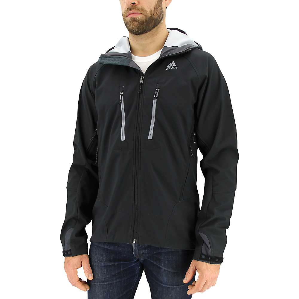 Adidas Men's All Outdoor Swift Softshell Hoodie - Medium - Black