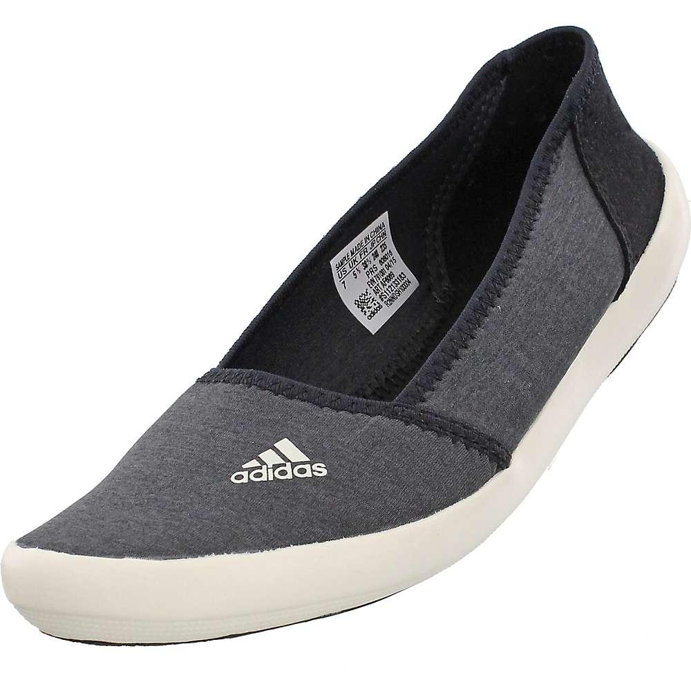 Adidas Women's Boat Slip-On Sleek Shoe - 10 - Dark Grey Hthr / Chalk White / Black