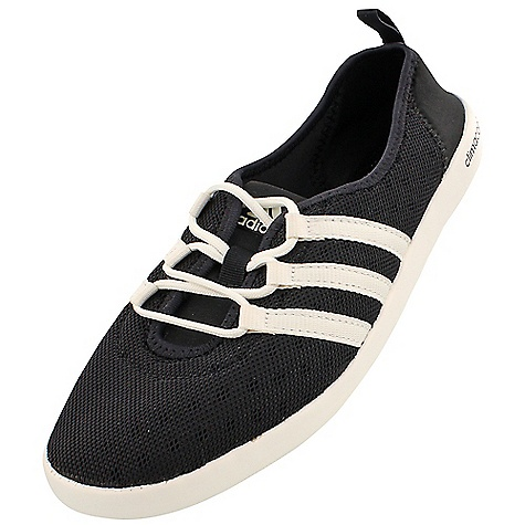 Adidas Women's Climacool Boat Sleek Shoe Black / Chalk White / Black Adidas Women's Climacool Boat Sleek Shoe - Black / Chalk White / Black - in stock now. FEATURES of the Adidas Women's Climacool Boat Sleek Shoe Stretchy slip-on provides all-day comfort in the outdoors Made with flexible, heathered textile, a perforated heel and grippy Traxion Outsole Upper: Sleek silhouette for women?s specific fit and look Climacool open mesh for enhanced breathability Midsole / Outsole: Climacool tooling construction for enhanced breathability and comfort