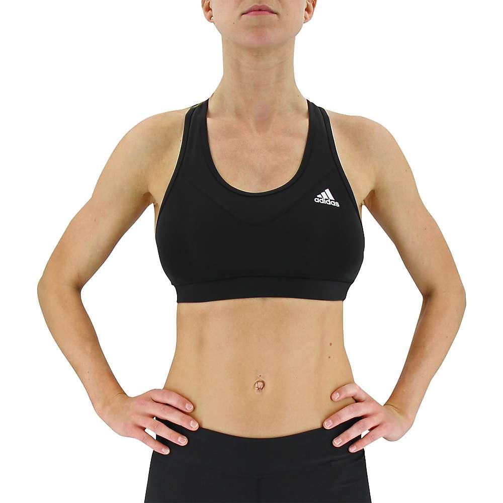 Adidas Women's Techfit Solid Bra - Large - Black / Matte Silver