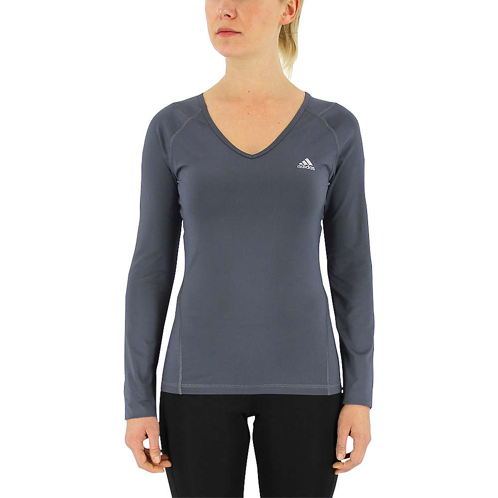 Adidas Women's Techfit LS Top - Large - Utility Blue / Matte Silver