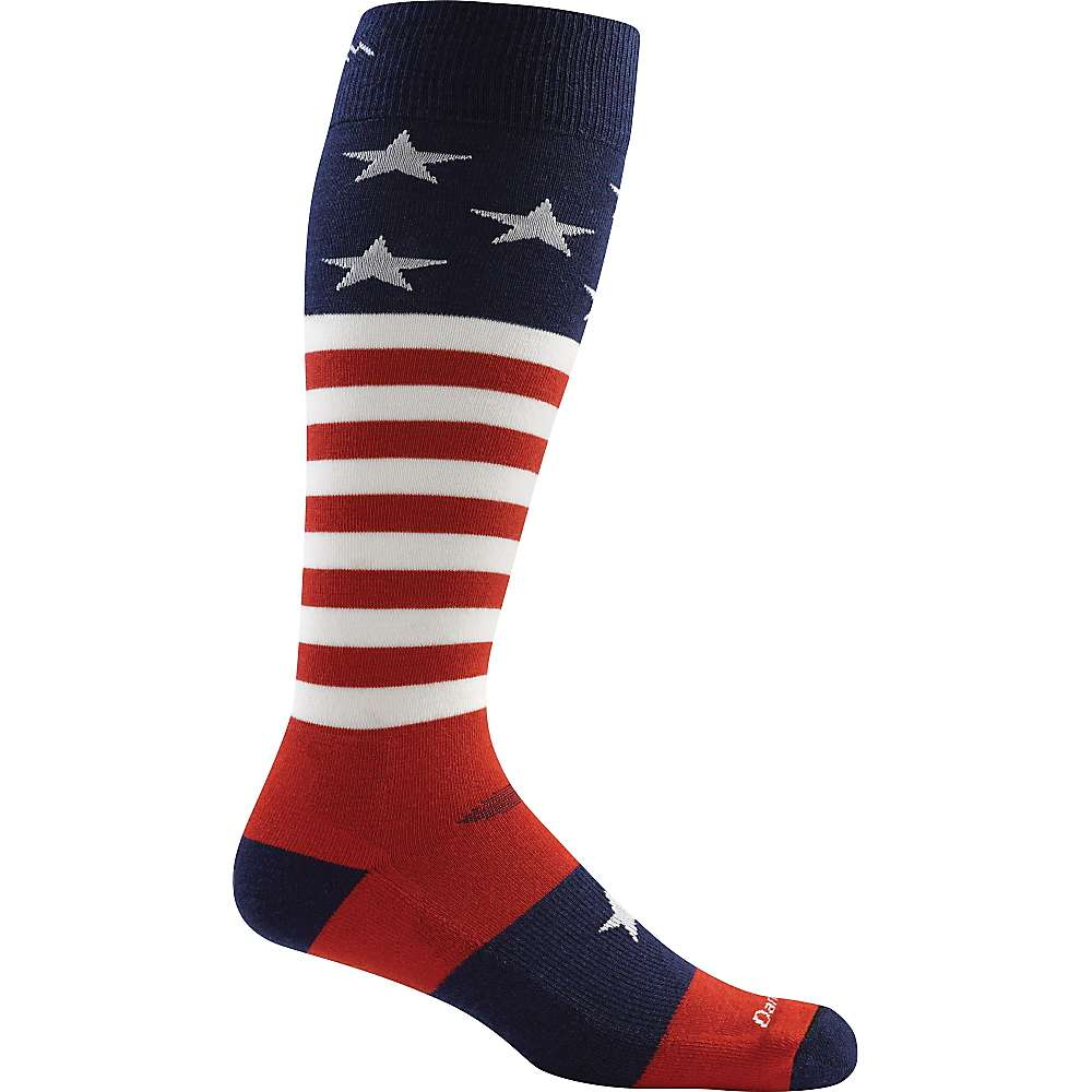 Darn Tough Men's Captain Stripe OTC Light Sock - XL - Stars and Stripes