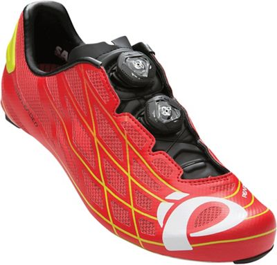 Pearl Izumi PRO Leader III Shoe - 45 - True Red / Lime Punch