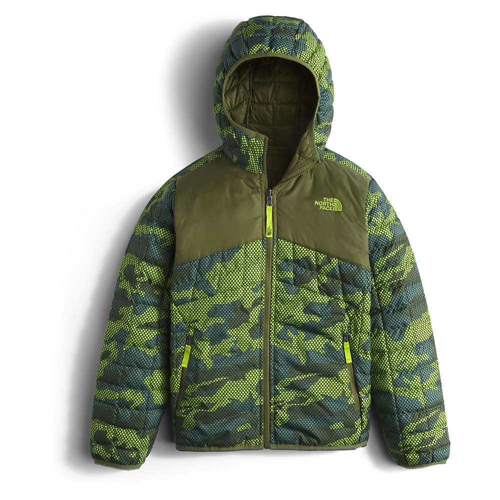 The North Face Boys' Reversible Thermoball Hoodie – Medium – Terrarium Green Mesh Camo