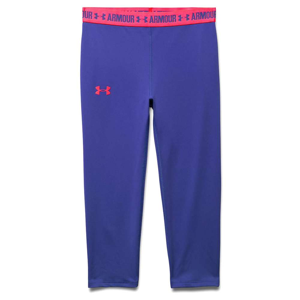 Under Armour Girls' Armour Capri - Large - Constellation Purple / Harmony Red