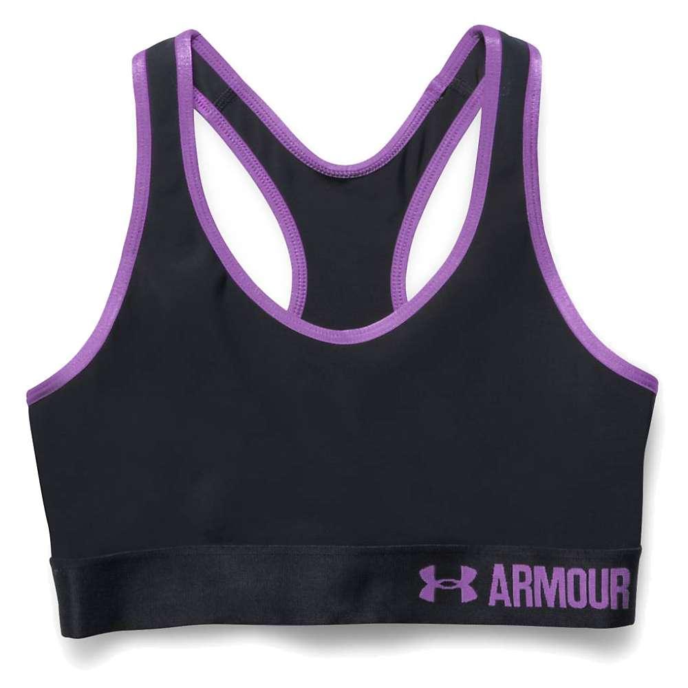 Under Armour Women's UA Armour Mid Printed Bra - XS - Black / Black / White