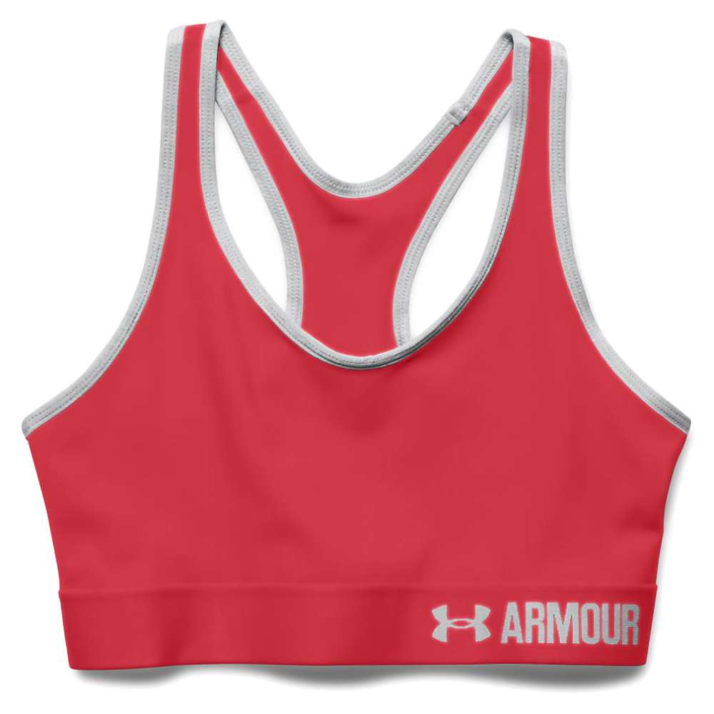 Under Armour Women's UA Armour Mid Printed Bra - Small - Red / Red / Aluminum