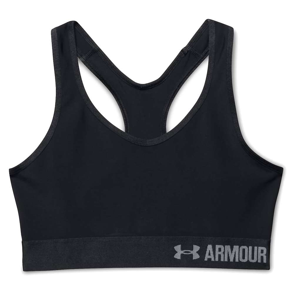 Under Armour Women's UA Armour Mid Printed Bra - Small - Black / Black / Grey Area