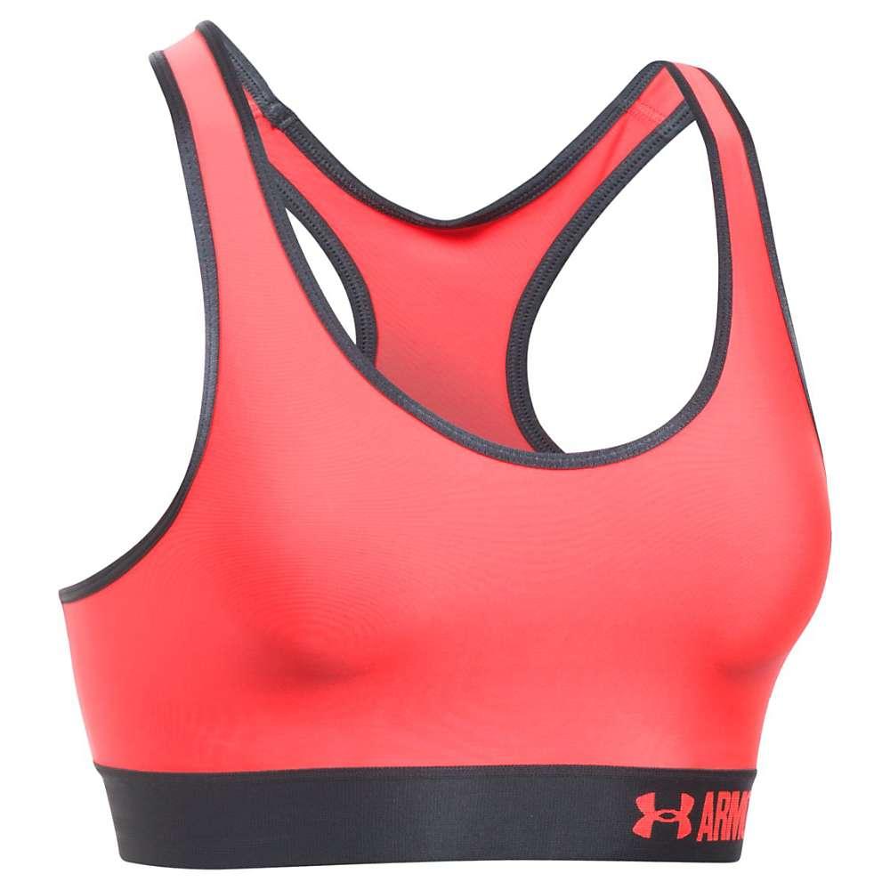 Under Armour Women's UA Armour Mid Printed Bra - Small - Marathon Red / Stealth Grey / Marathon Red