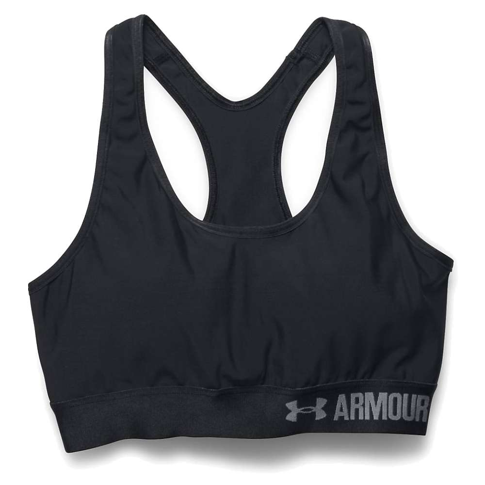 Under Armour Women's Armour Mid Bra with Cups - Small - Black / Black / White
