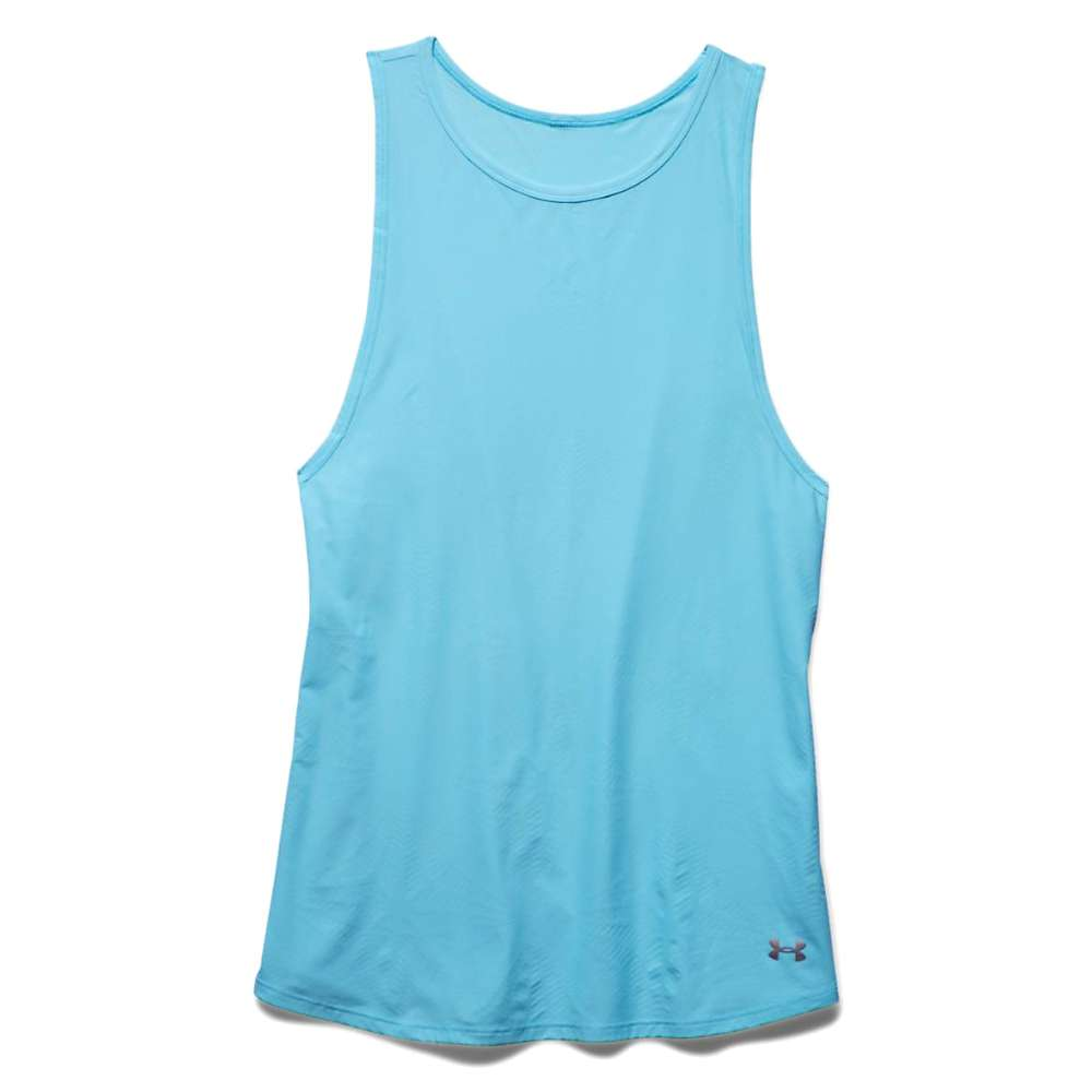 Under Armour Women's Coolswitch Run Tank - XS - Sky Blue / Reflective