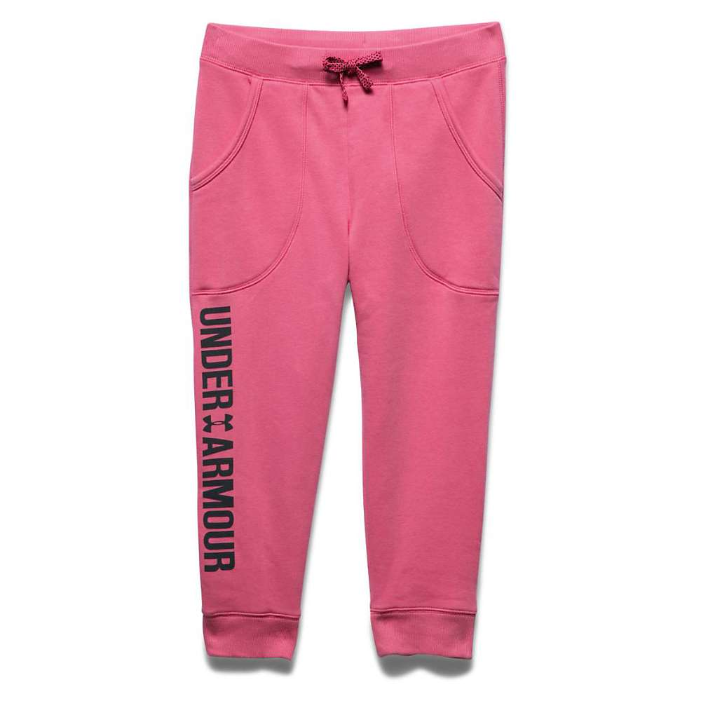 Under Armour Girls' Favorite Fleece Capri - Small - Super Pink / Black