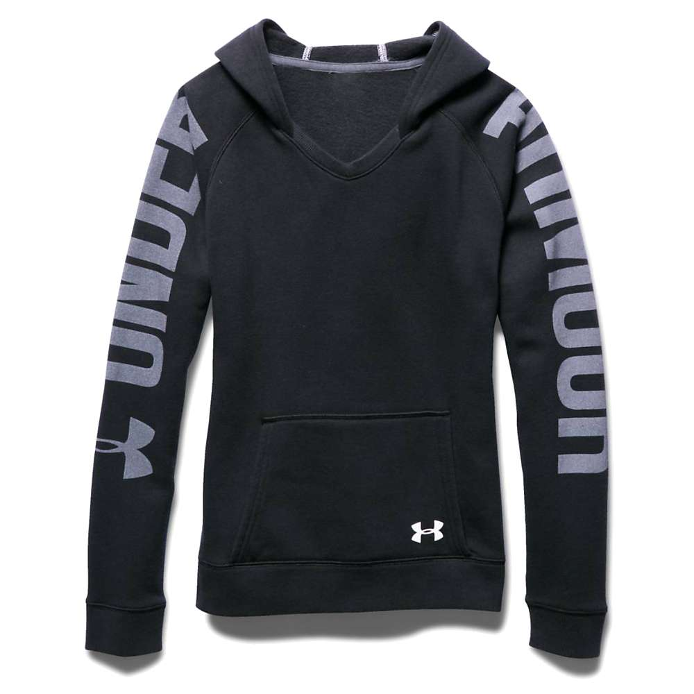 Under Armour Girls' Favorite Fleece Hoody - XS - Black / White / White