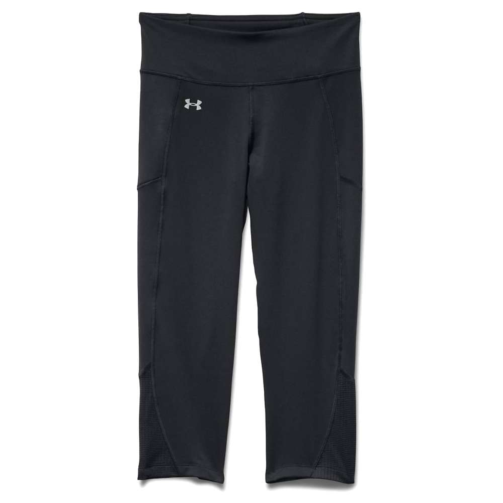 Under Armour Women's Fly By Run Capri - Large - Black / Black / Reflective