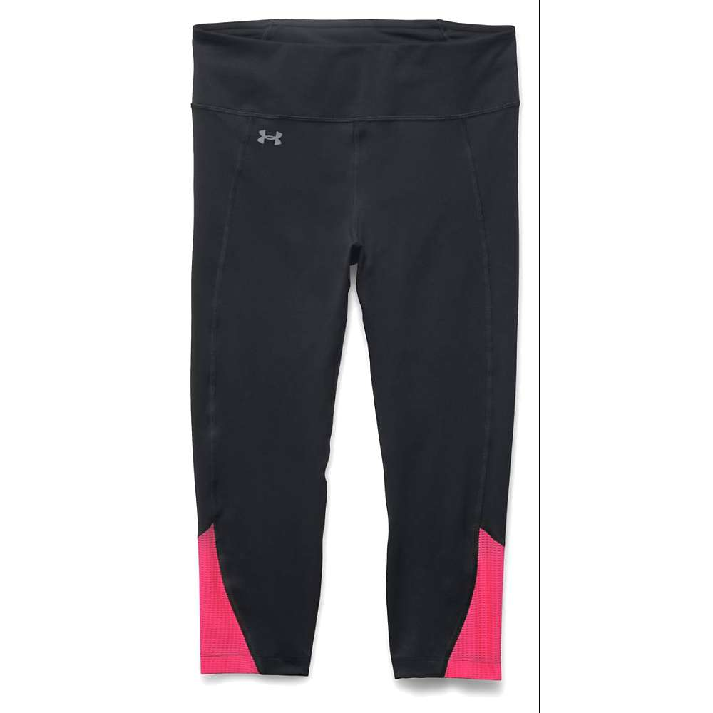 Under Armour Women's Fly By Run Capri - Small - Black / Harmony Red / Reflective