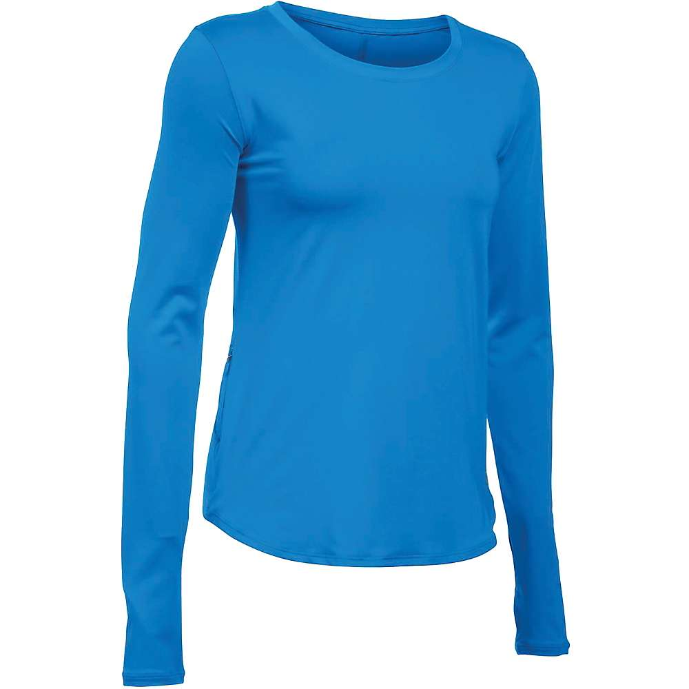 Under Armour Women's Fly By Solid LS Top - XL - Water / Reflective