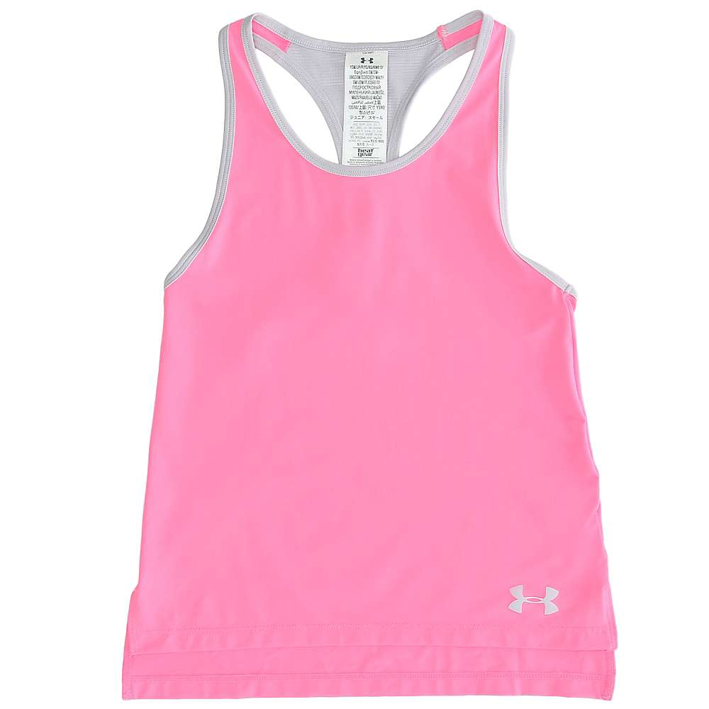 Under Armour Girls' Luna Tank - XS - Pink Punk / Cloud Grey / Cloud Grey