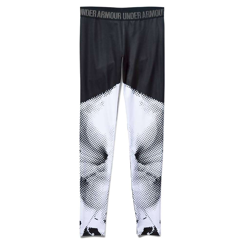 Under Armour Women's Roga Engineered Legging - XL - Black / White / Silver