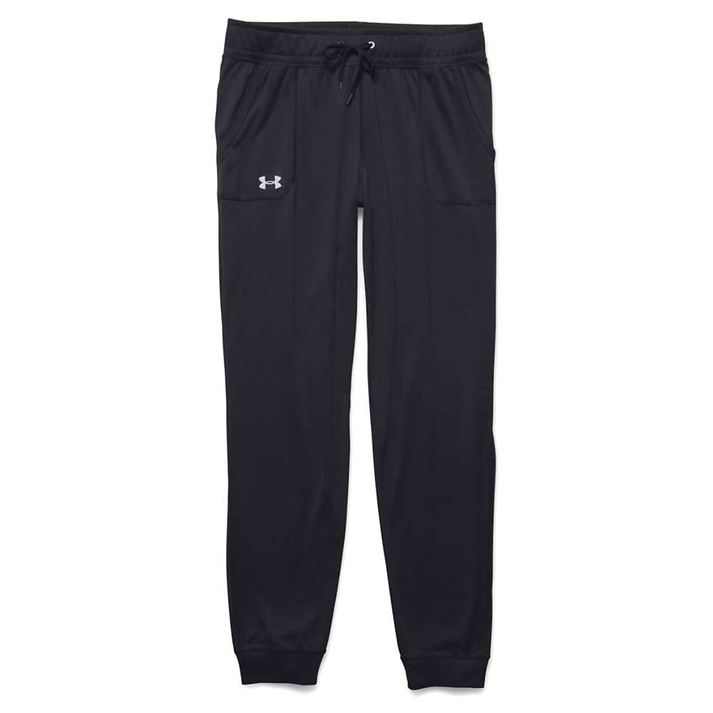 Under Armour Women's Tech Solid Pant - XS Short - Black / Metallic Silver