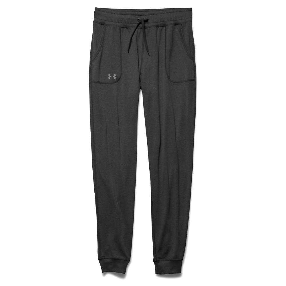 Under Armour Women's Tech Solid Pant - Large - Carbon Heather / Metallic Silver