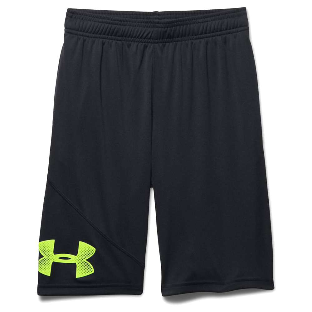 Under Armour Boys' UA Tech Prototype Short - XL - Black / Black / Fuel Green