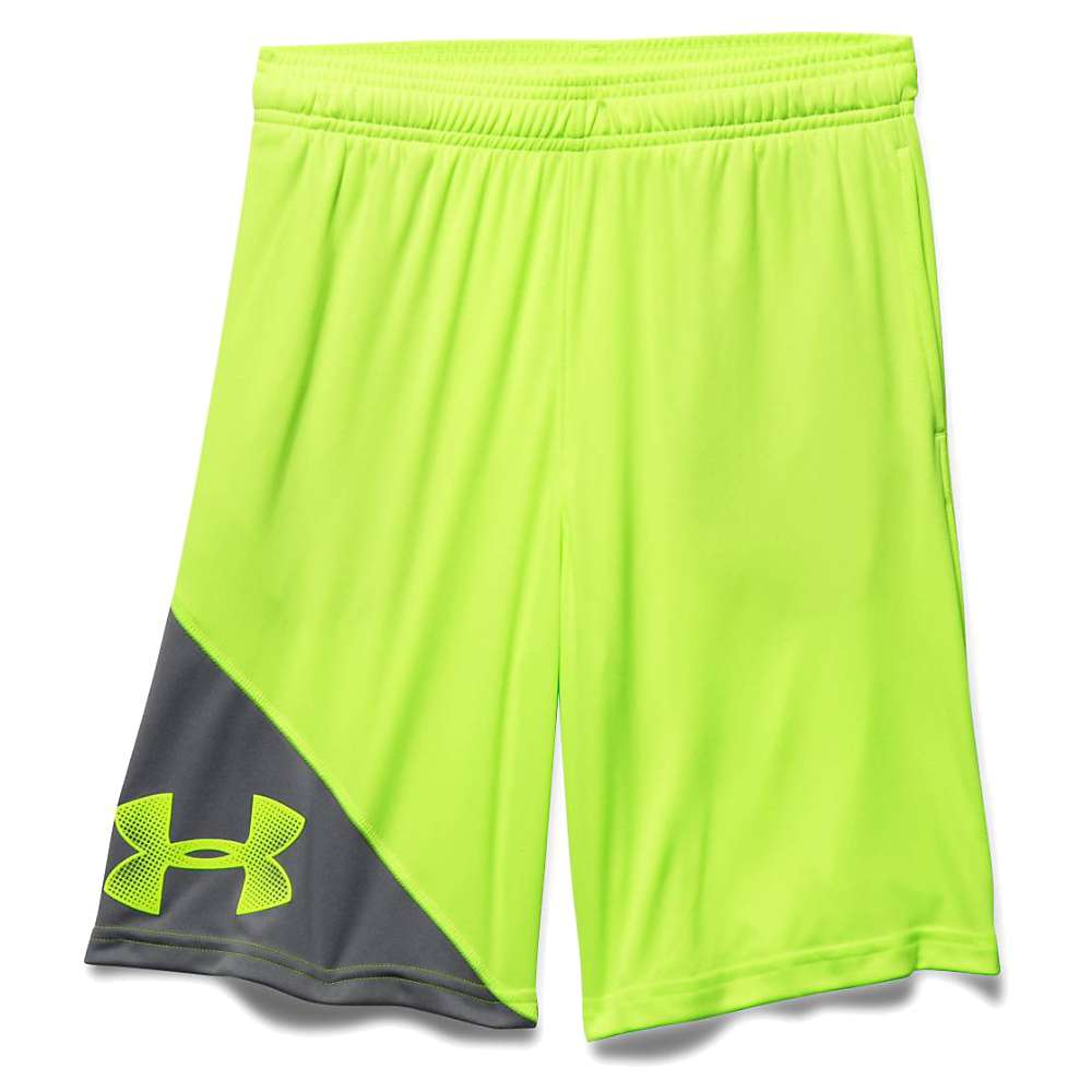 Under Armour Boys' UA Tech Prototype Short - XL - Fuel Green / Graphite / Fuel Green