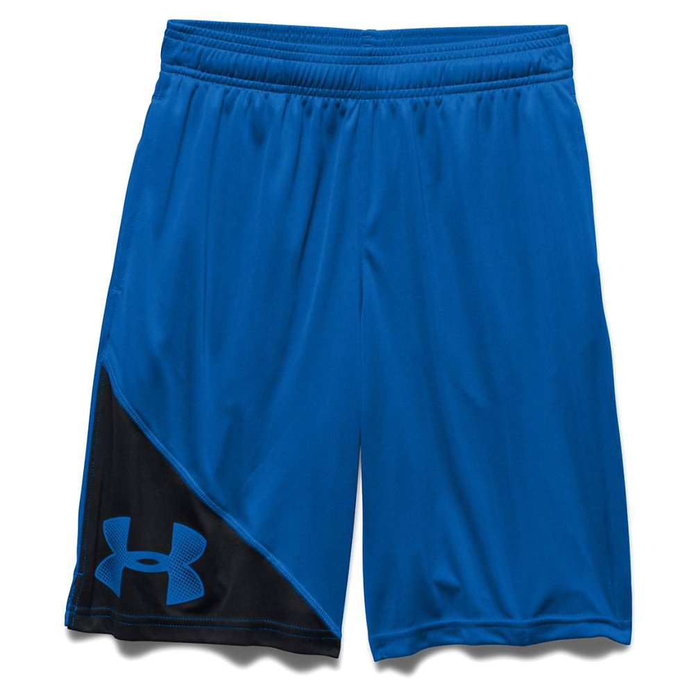 Under Armour Boys' UA Tech Prototype Short - Medium - Ultra Blue / Black / Ultra Blue