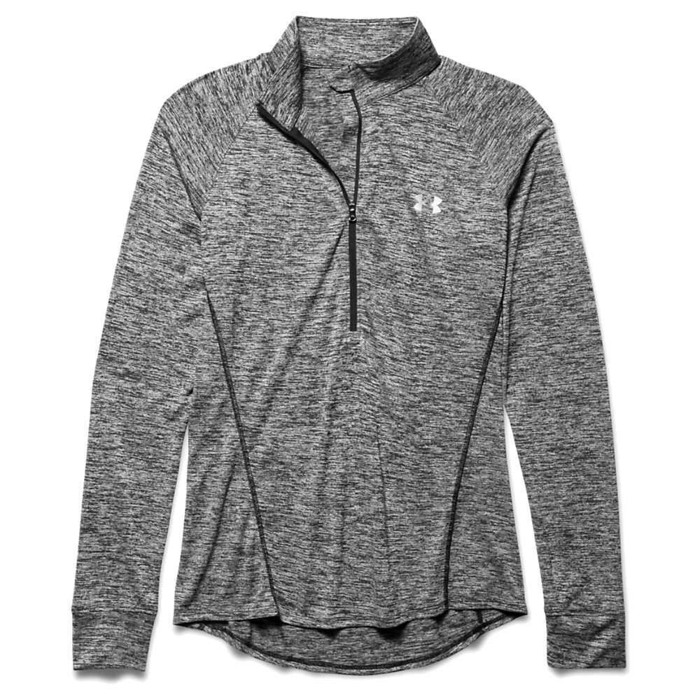 Under Armour Women's Twist Tech 1/2 Zip Top - Large - Black / Metallic Silver