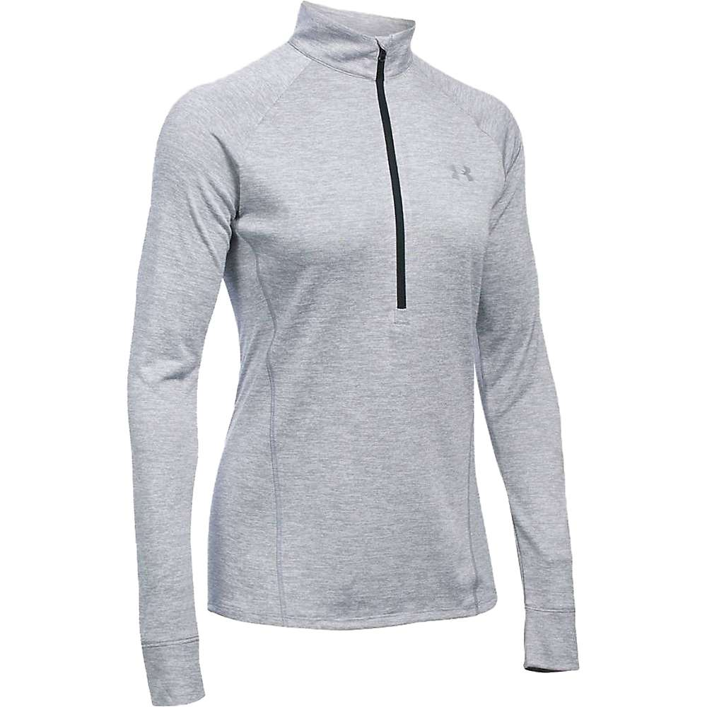 Under Armour Women's Twist Tech 1/2 Zip Top - XS - Steel / Black / Metallic Silver