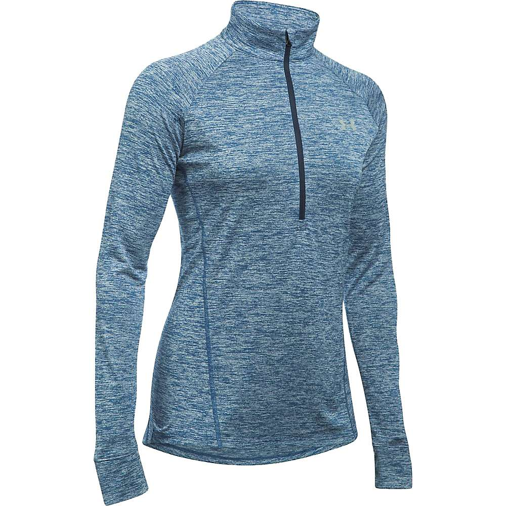 Under Armour Women's Twist Tech 1/2 Zip Top - Large - Heron / Midnight Navy / Metallic Silver