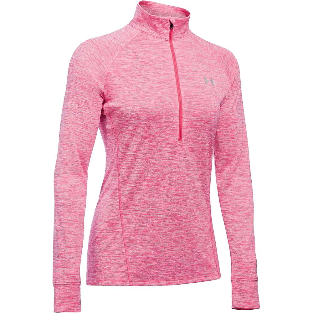 Under Armour Women's Twist Tech 1/2 Zip Top - Medium - Pink Sky / Knock Out / Metallic Silver