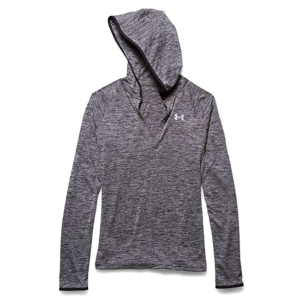 Under Armour Women's Twist Tech LS Hoody - XS - Black / Metallic Silver