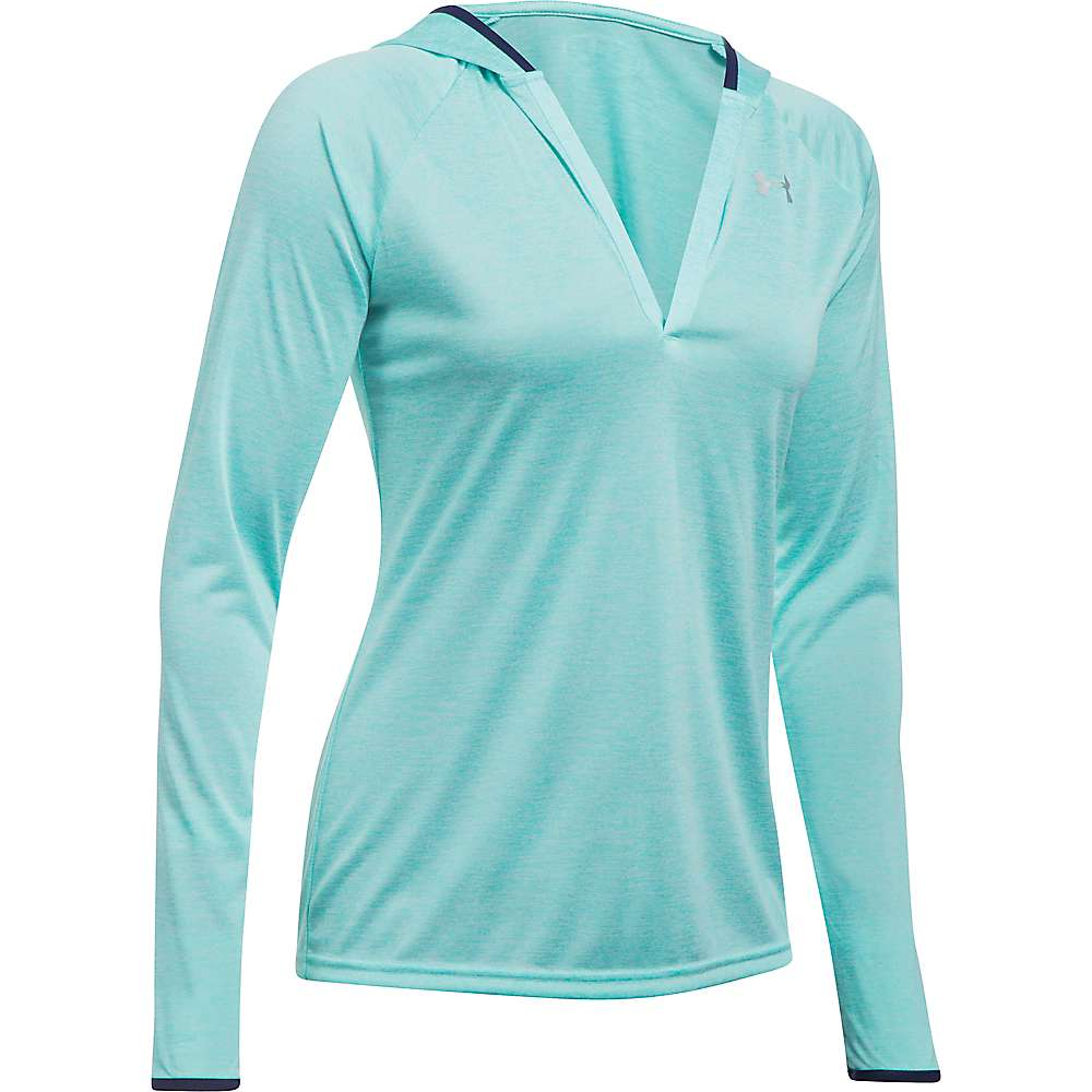 Under Armour Women's Twist Tech LS Hoody - Small - Blue Infinity / Metallic Silver