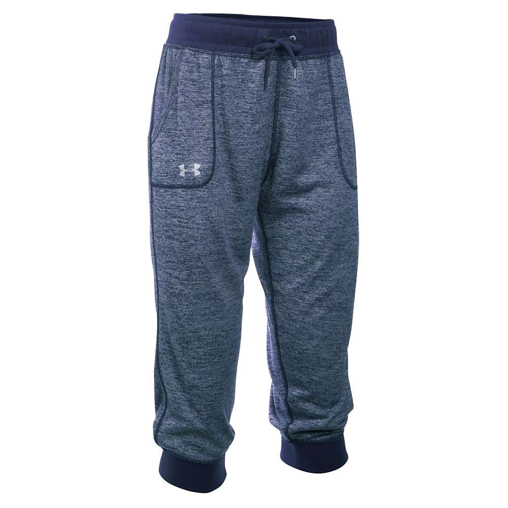 Under Armour Women's Twist Tech Capri - XS - Midnight Navy / Metallic Silver