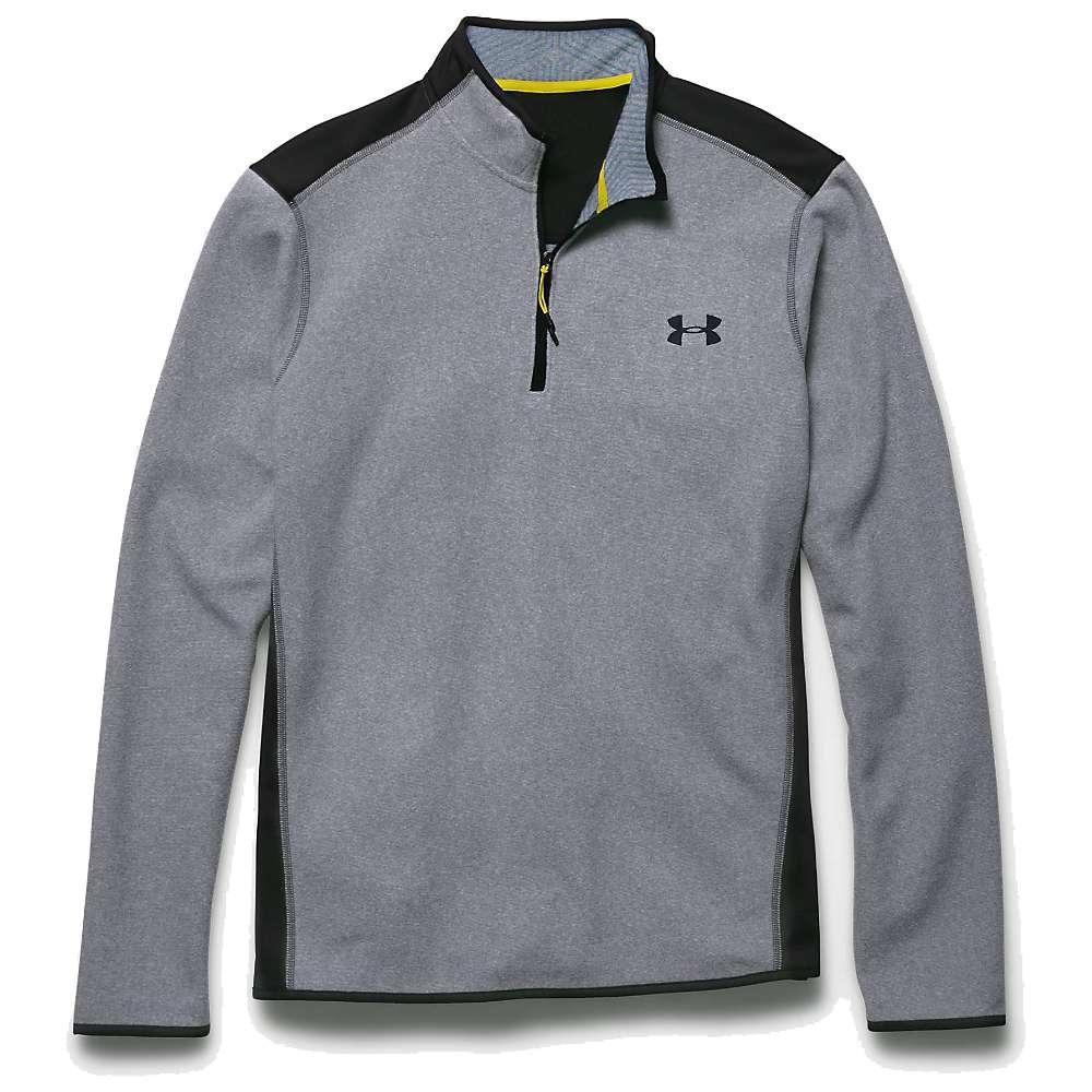 Under Armour Men's ColdGear Infrared Fleece 1/4 Zip Top - Small - Steel / Black / Black