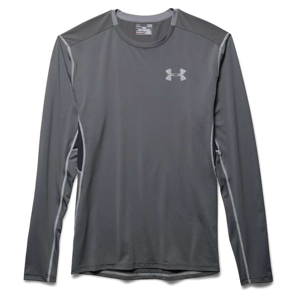 Under Armour Men's Coolswitch Run LS Top - Large - Graphite / Electric Blue / Reflective