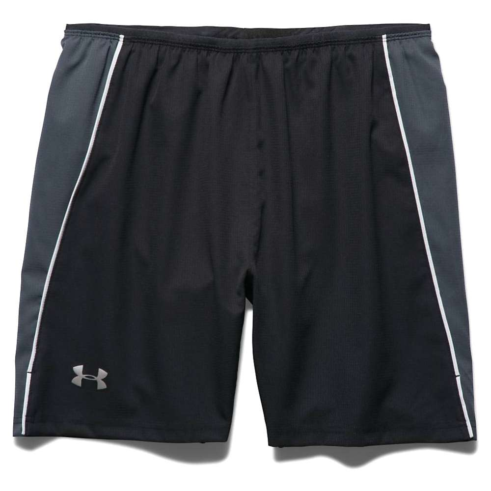 Under Armour Men's Coolswitch Run 7IN Short - XL - Black / Stealth Gray / Reflective