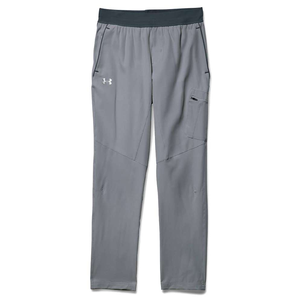 Under Armour Men's Circuit Woven Tapered Pant - Large - Steel / Stealth Grey / Silver