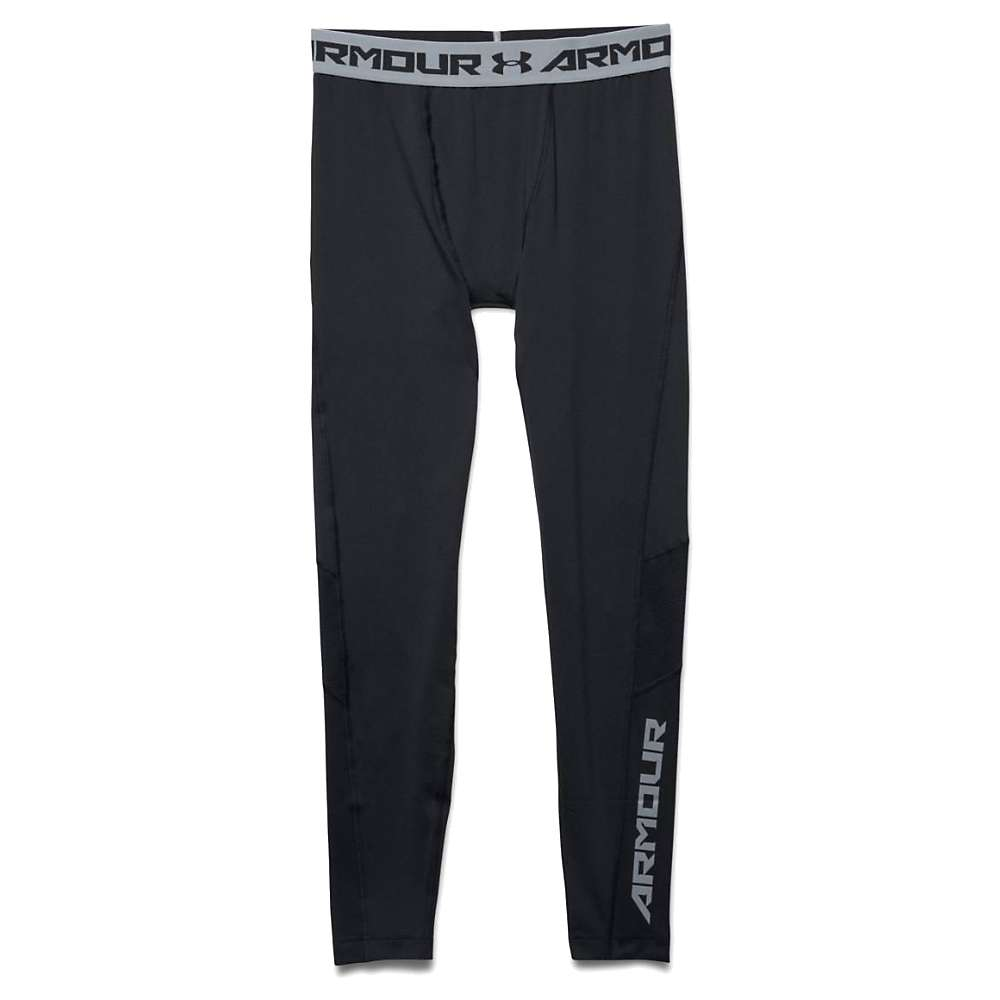 Under Armour Men's HeatGear Coolswitch Compression Legging - XXL - Black / Black / Reflective