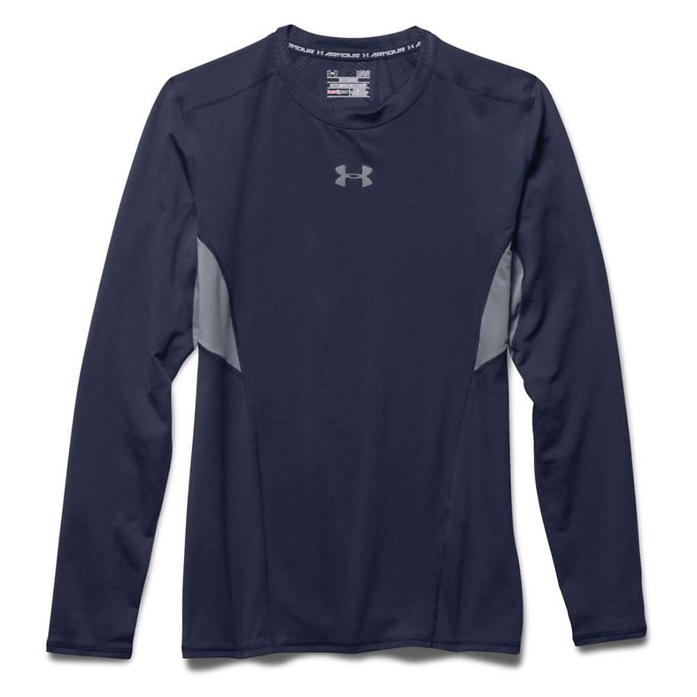 Under Armour Men's HeatGear Coolswitch Compression LS Tee - XXL - Midnight Navy / Steel / Reflective