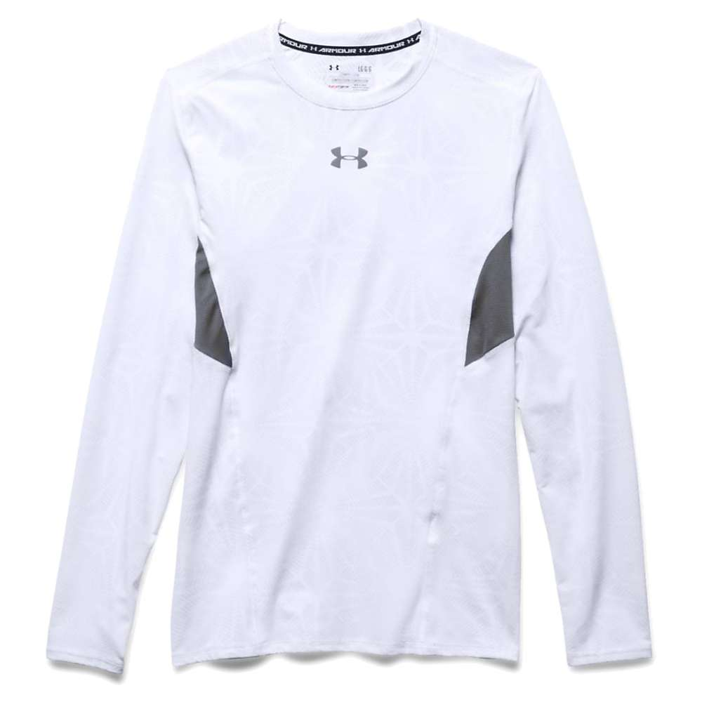 Under Armour Men's HeatGear Coolswitch Compression LS Tee - Large - White / Graphite / Reflective