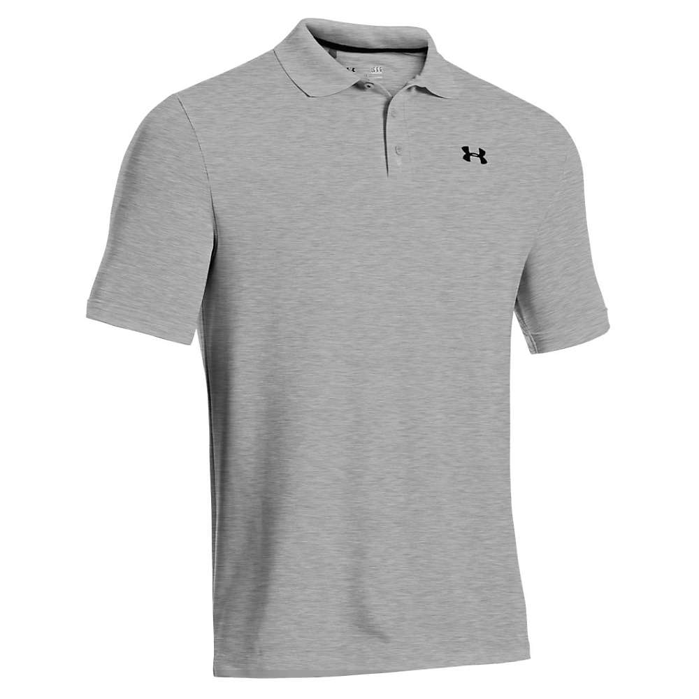 Under Armour Men's UA Performance Polo - XL - True Gray Heather / Black
