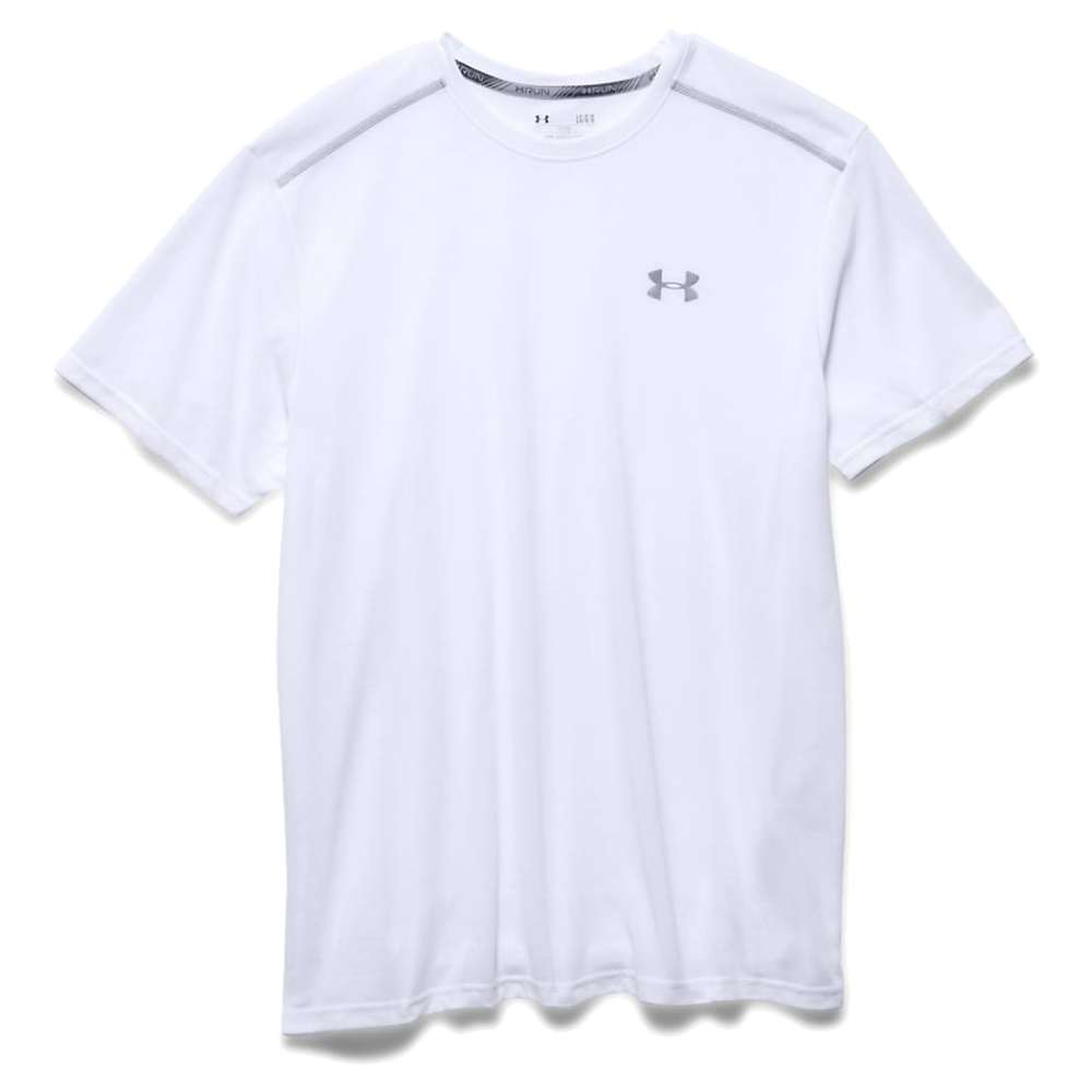 Under Armour Men's Threadborne Streaker SS Tee - XXL - White / Reflective