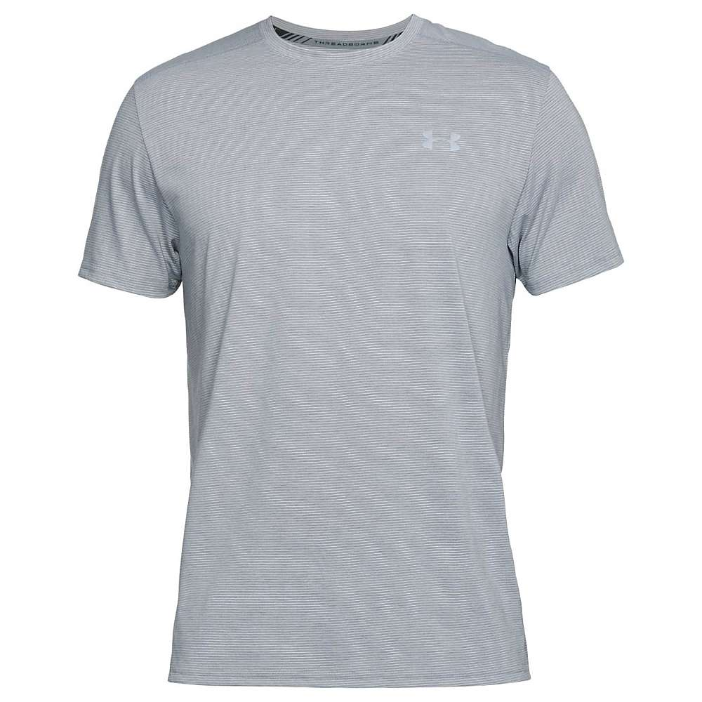 Under Armour Men's Threadborne Streaker SS Tee - XS - Steel Light Heather / Reflective