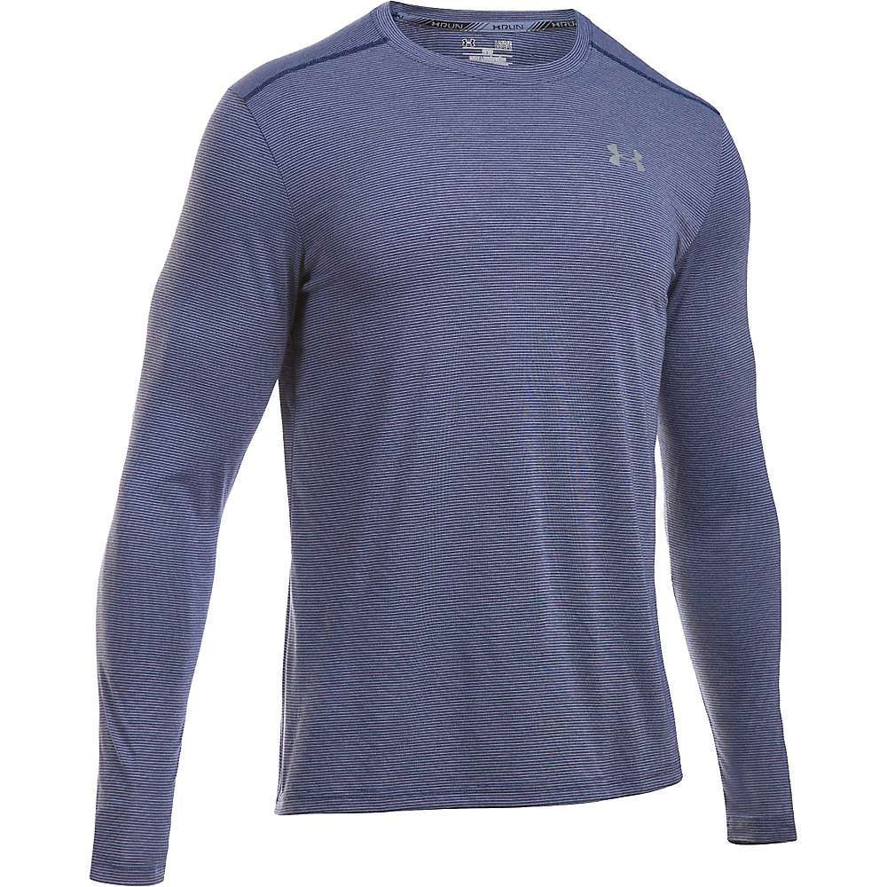 Under Armour Men's Threadborne Streaker LS Tee - Small - Midnight Navy / Midnight Navy / Reflective